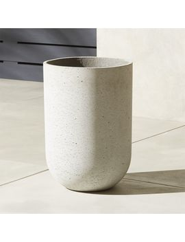 Seminyak Large Grey Planter by Crate&Barrel