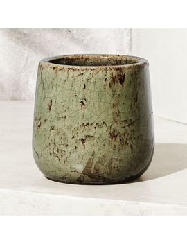 Basin Teal Planter by Crate&Barrel