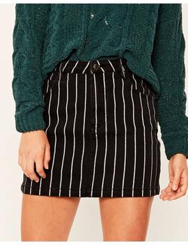 Striped Denim Skirt by Glassons