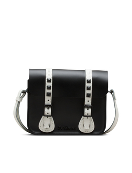 "7"" Studded Leather Satchel by Dr. Martens"