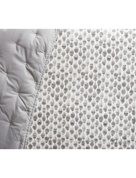 West Elm X Pbk Organic Stamped Owl Crib Fitted Sheet by Pottery Barn Kids