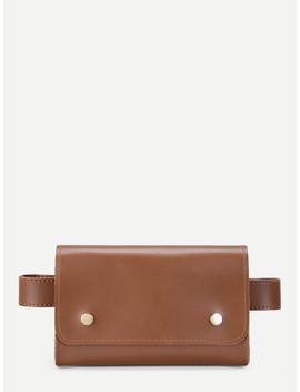 Pu Flap Bum Bag by Romwe