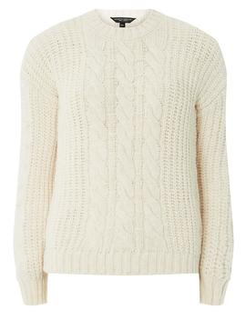 Ivory Bobble Sleeve Jumper by Dorothy Perkins