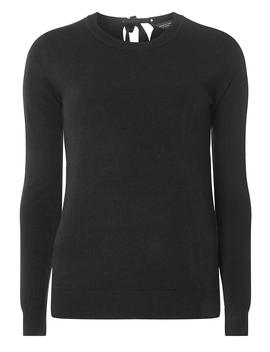 Navy Bow Tie Back Jumper by Dorothy Perkins