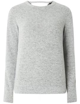 Grey Wrap Back Long Sleeve Jumper by Dorothy Perkins