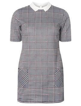 Multi Coloured Check Print Tunic by Dorothy Perkins