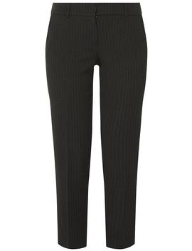 Black Pinstripe Ankle Grazer Trousers by Dorothy Perkins