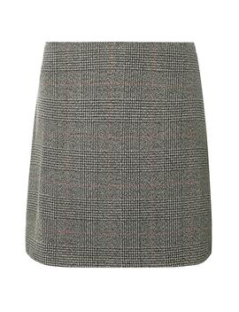 Grey Checked Print Mini Skirt by Dorothy Perkins