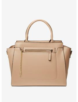 Neutral Winged Workwear Tote Bag by Dorothy Perkins