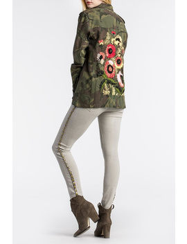 Floral Embroidered Camo Military Jacket by Assets Jean Co, North Shore