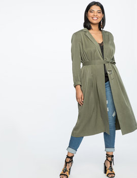 Soft Trench With Belt by Eloquii