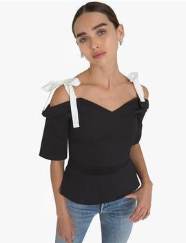Aerin Shoulder Tie Top by Pixie Market