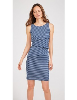 Nicola Sleeveless Dress In Stripe by J.Mc Laughlin