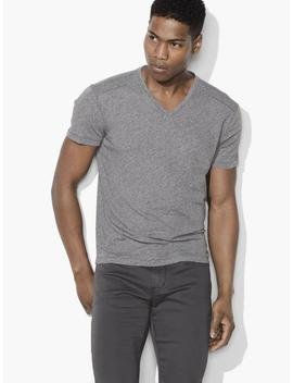 Heathered V Neck Tee by John Varvatos