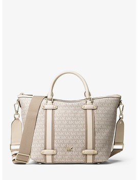 Griffin Large Logo Jacquard Satchel by Michael Michael Kors