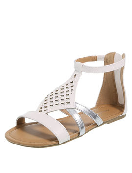 Girls' Athena Chopout Gladiator Sandal by Learn About The Brand American Eagle