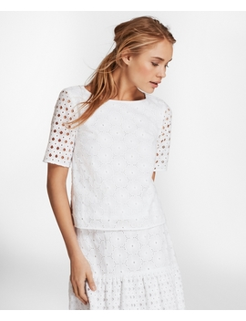 Cotton Eyelet Blouse by Brooks Brothers