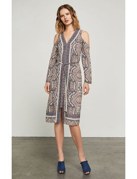 Cindi Cold Shoulder Robe Dress by Bcbgmaxazria