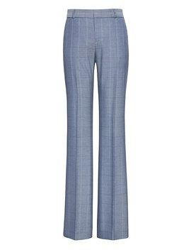 Petite Logan Trouser Fit Windowpane Tweed Pant by Banana Repbulic