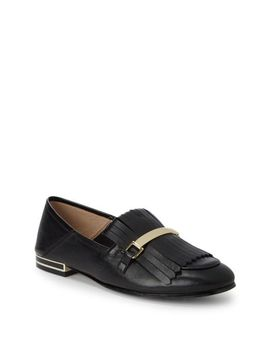 Men's Black Leather Tassel Loafers by Karl Lagerfeld