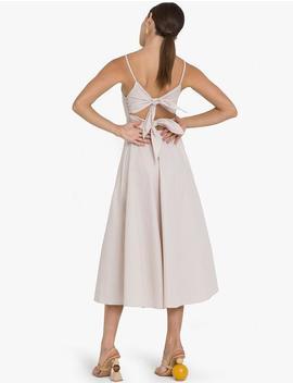 Capri Bow Back Tie Midi Dress by Pixie Market
