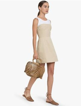 Carolina Tan Bustier Dress by Pixie Market