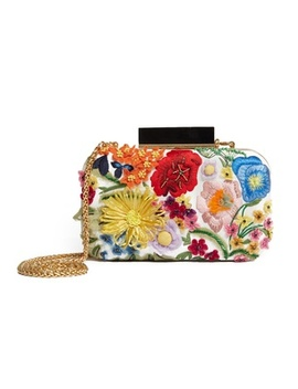 Shirley 3 D Floral Large Clutch by Alice And Olivia