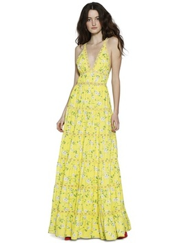Karolina Paneled Halter Maxi Dress by Alice And Olivia