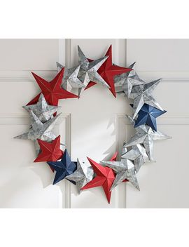 Americana Galvanized Metal Star Wreath by Pottery Barn