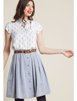 living-the-dream-skirt-in-greyliving-the-dream-skirt-in-grey by modcloth