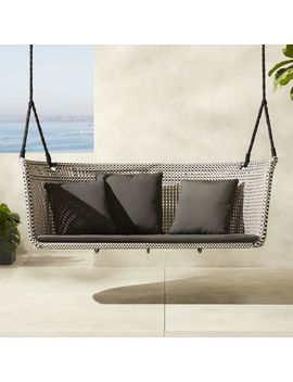 Grove Hanging Loveseat Swing by Crate&Barrel
