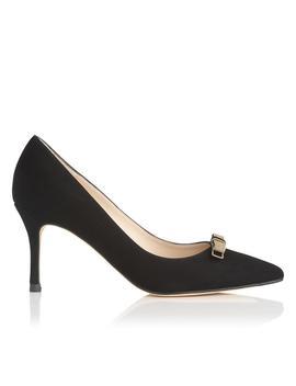Marion Black Suede Heel by L.K.Bennett