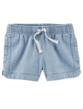 Easy Pull On Chambray Shorts by Carter's