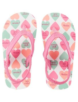 Carter's Heart Flip Flops by Carter's