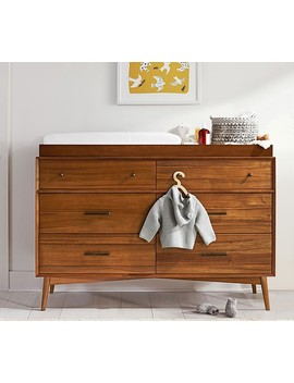 West Elm X Pbk Mid Century 6 Drawer Changing Table by Pottery Barn Kids