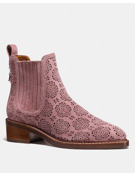 Bowery Chelsea Boot With Cut Out Tea Rose by Coach
