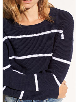 Racked Rib Cotton Stripe by Vince