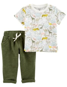 2 Piece Slub Jersey Top &  Pant Set by Carter's