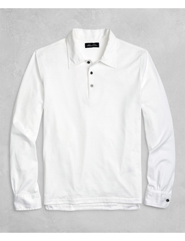 Golden Fleece® Long Sleeve Polo Shirt by Brooks Brothers