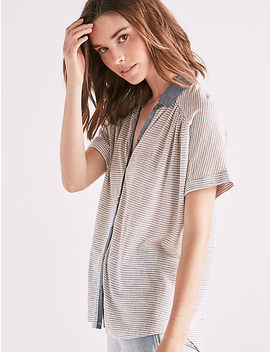 Stripe Dolman Button Up by Lucky Brand