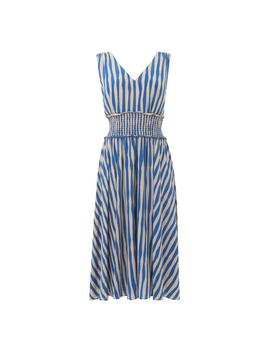 Ambery Blue Stripe Dress by L.K.Bennett