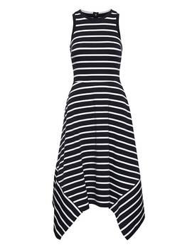 Stripe Handkerchief Hem Ponte Dress by Banana Repbulic