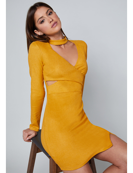 Tiffany Faux Suede Dress by Bebe