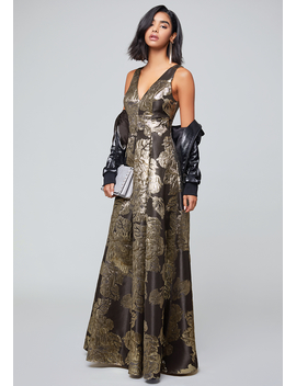 Lina Metallic Gown by Bebe