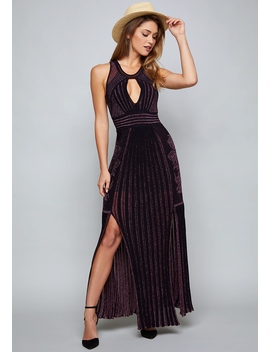 Blakely Metallic Knit Gown by Bebe