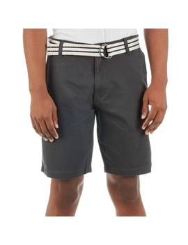 Mens Belted Flat Front Stretch Short by Burlington