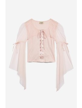 **Pingi Top Von Lace &Amp; Beads by Topshop