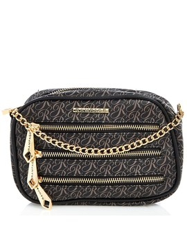 Faux Leather Mini Crossbody With Logo   by Burlington