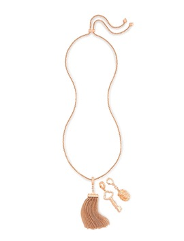 Zosia Long Pendant Necklace In Rose Gold by Kendra Scott