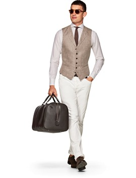 Light Brown Waistcoat by Suitsupply